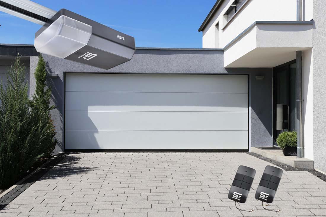 Garagentor Schartec Thermolux 40 L-Sicke in weiß 3000 x 2125 mit Antrieb