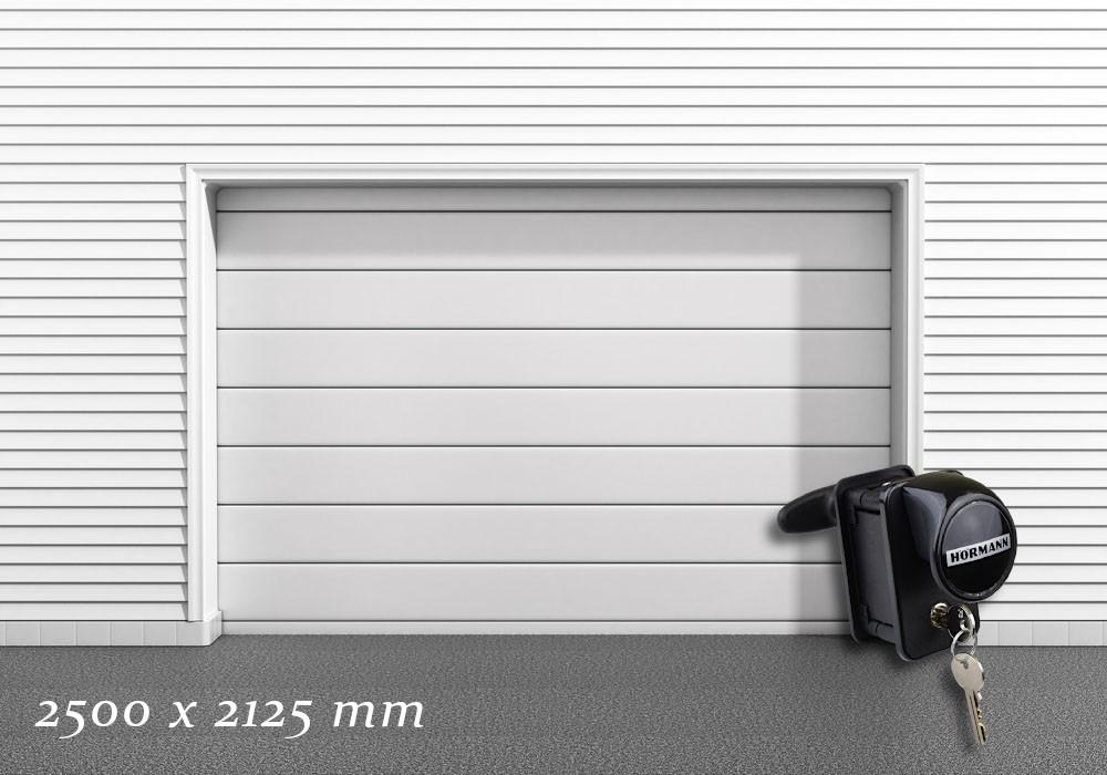 Garagentor Schartec Thermolux 40 M-Sicke in weiß 2500 x 2125 handbetätigt