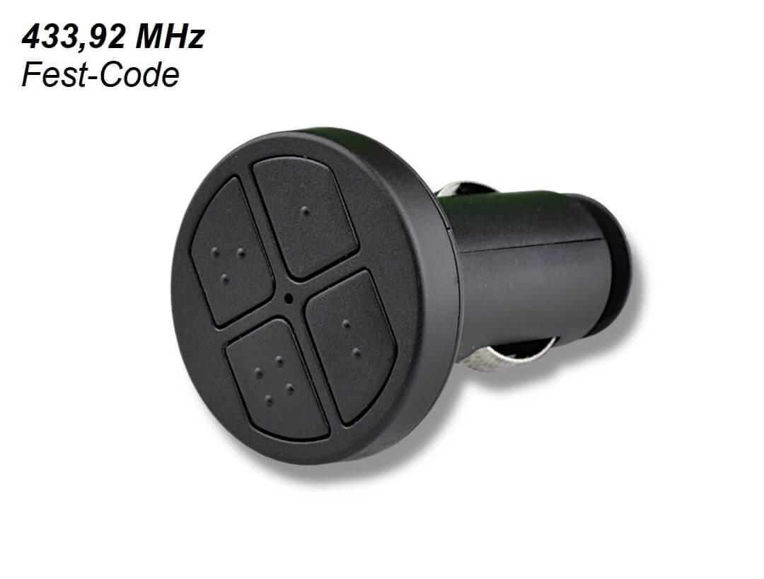 Universal Handsender 433 MHz für Zigarettenanzünder