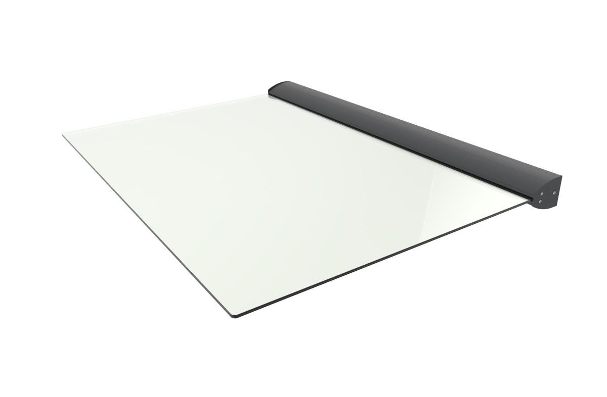 Schartec Glas-Vordach B1400 A-L mit LED-Beleuchtung