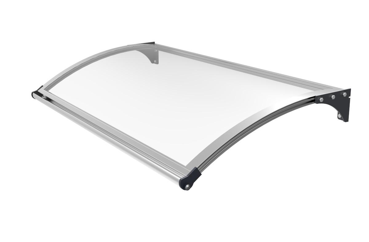 Schartec Aluminium-Vordach L A-L mit LED-Beleuchtung