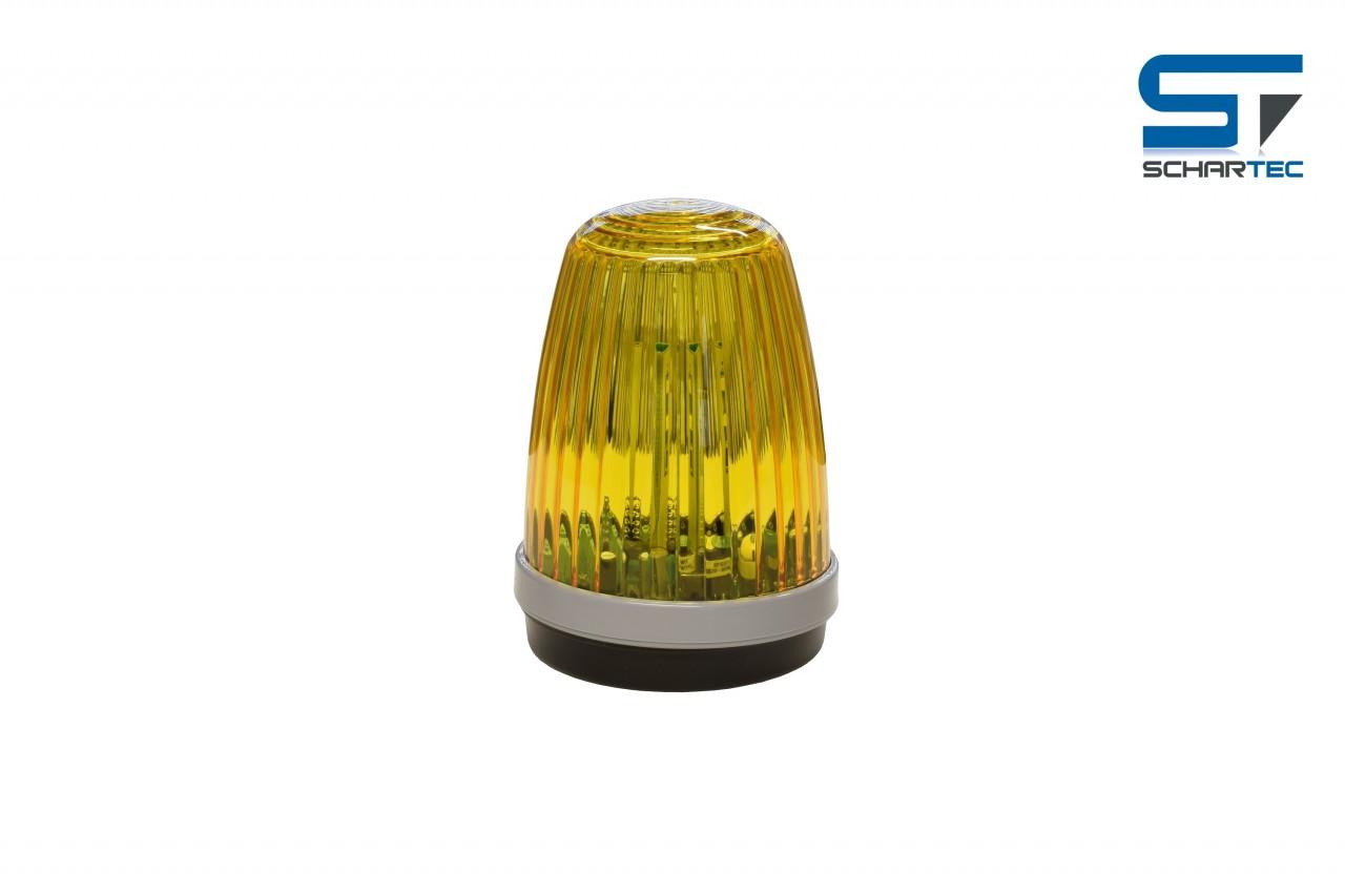 Schartec Profi-Signalleuchte gelb 12-24 V + 230 V