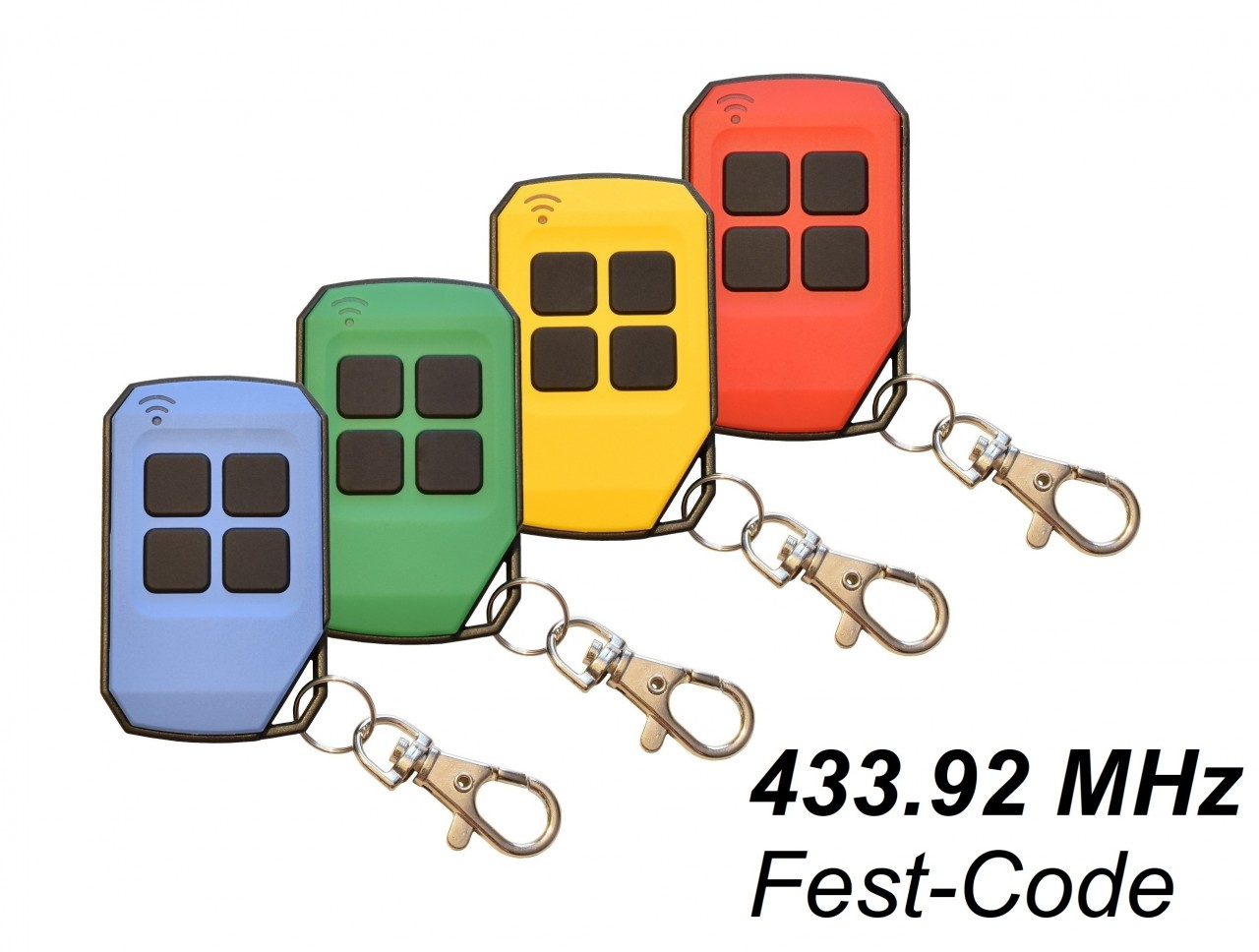 Schartec Universal Handsender 433 MHz Festcode farbig