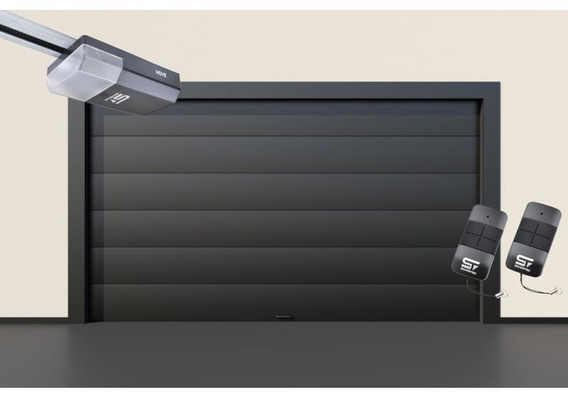 Garagentor Schartec Thermolux 40 M-Sicke in anthrazit 3000 x 2000 mit Antrieb