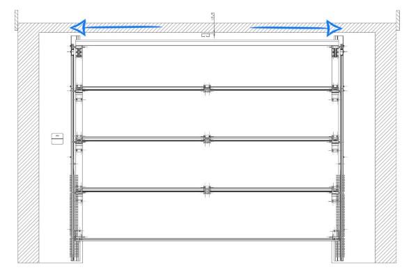 Messen Sie die Breite Ihrer Garagenöffnung, um die Breite des Tores zu ermitteln