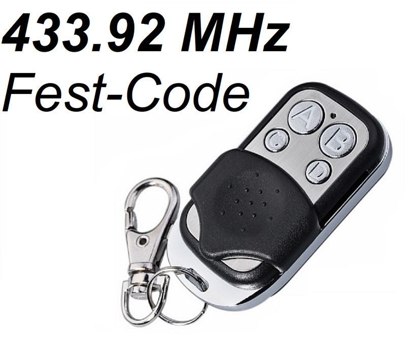 Schartec Universal Handsender 433,92 MHz Festcode als Slider