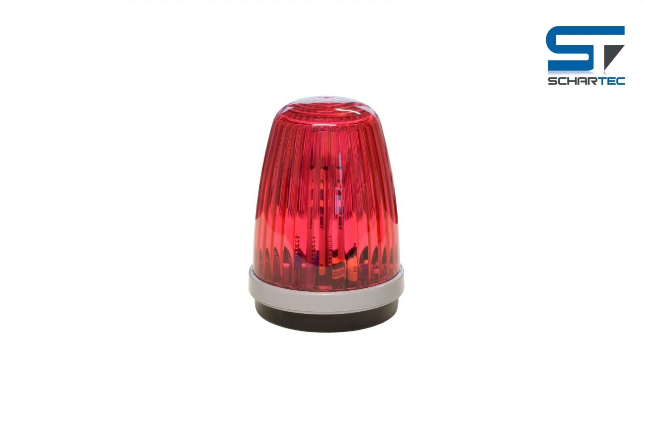 Schartec Profi-Signalleuchte rot 12-24 V + 230 V