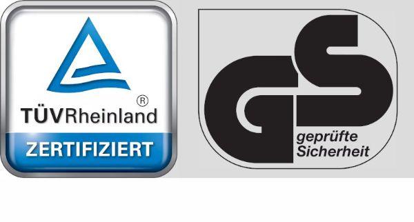 Alle Schartec Antriebe sind TÜV GS geprüft