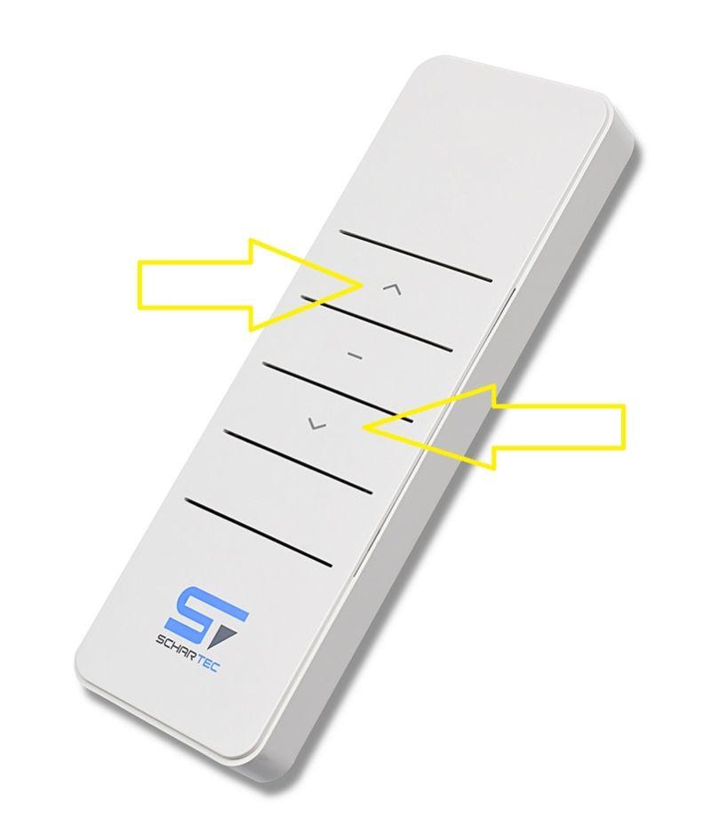 Beim Funk-Rollladenmotor sollte die gewünschte Bewegungsrichtung auf dem Funksender während des einstellens gedrückt werden