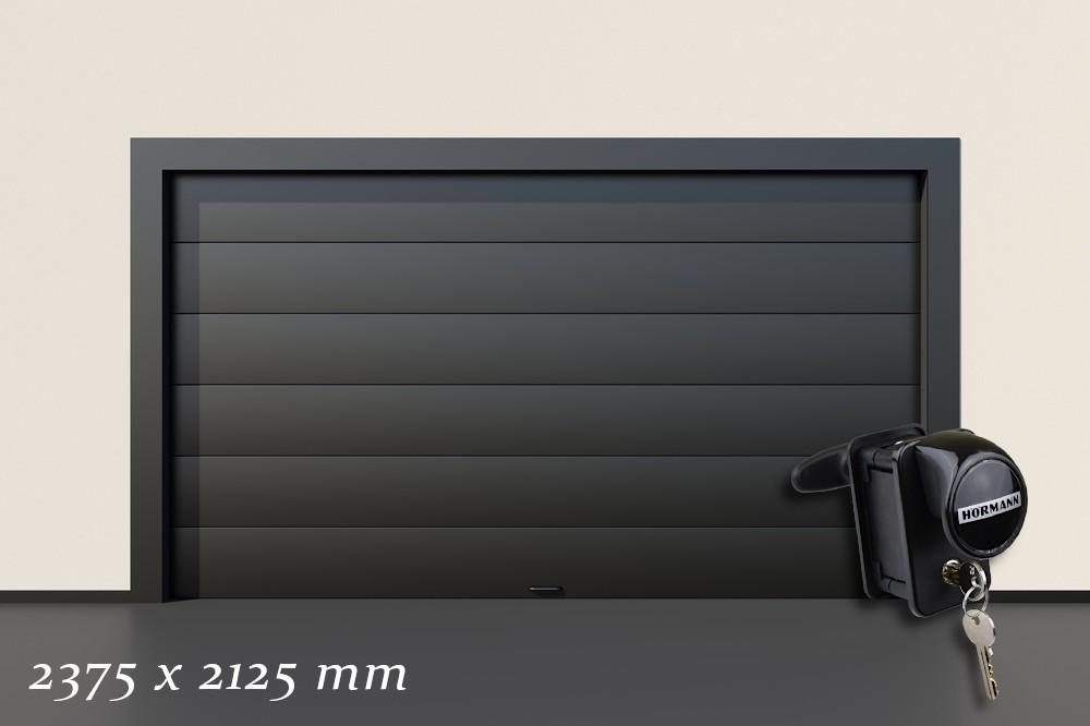 Garagentor Schartec Thermolux 40 in anthrazit 2375 x 2125 handbetätigt