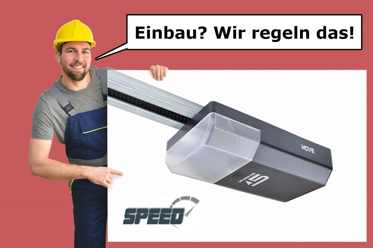 Schartec Garagentorantrieb Move 1000 Speed Serie 3 mit K-Schiene inkl. Vermittlung Montage Service