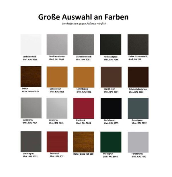 Farbpalette mit großer Auswahl