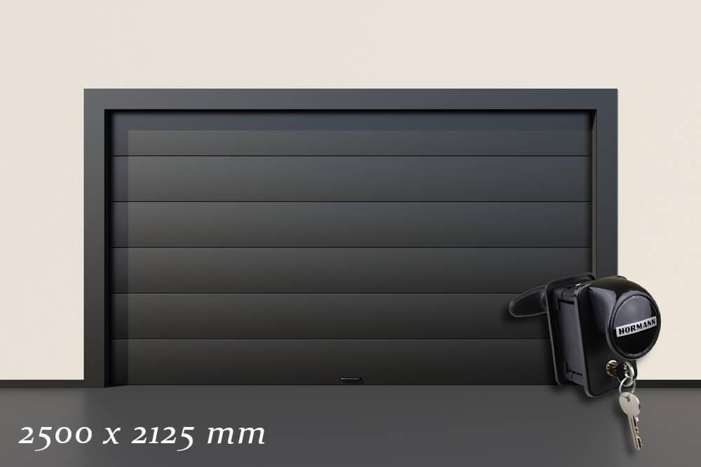 Garagentor Schartec Thermolux 40 M-Sicke in anthrazit 2500 x 2125 handbetätigt